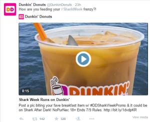 Shark Week Dunkin Donuts