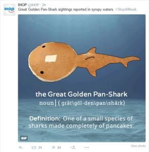 Shark Week IHOP